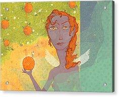 Orange Angel 1 Acrylic Print by Dennis Wunsch