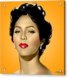 Orange Dorothy Acrylic Print by Davonte Bailey