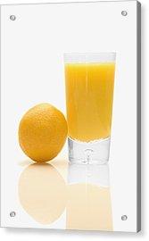 Orange Juice Acrylic Print by Darren Greenwood
