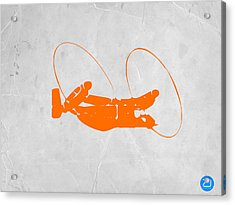 Orange Plane Acrylic Print by Naxart Studio