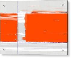 Orange Rectangle Acrylic Print by Naxart Studio