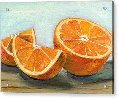 Orange Acrylic Print by Sarah Lynch
