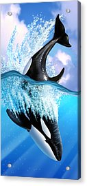 Orca 2 Acrylic Print by Jerry LoFaro
