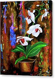 Orchid Hi Acrylic Print by Laura Pierre-Louis