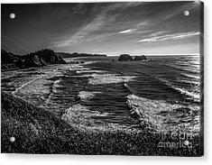 Oregon Coast At Sunset Acrylic Print by Jon Burch Photography