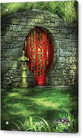 Orient - Door - The Moon Gate Acrylic Print by Mike Savad