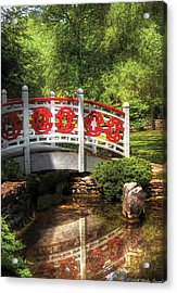 Orient - Bridge - Tranquility Acrylic Print by Mike Savad