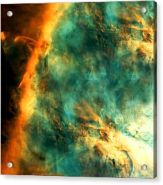 Orion Nebula Fire Sky Acrylic Print by The  Vault - Jennifer Rondinelli Reilly