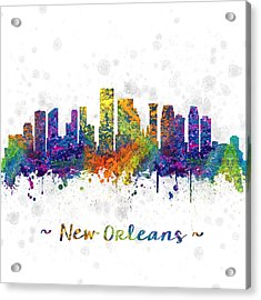 Orleans Louisiana Color 03sq Acrylic Print by Aged Pixel