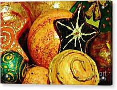 Ornaments 2 Acrylic Print by Sarah Loft