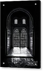 Ornate Alhambra Window Acrylic Print by Jane Rix