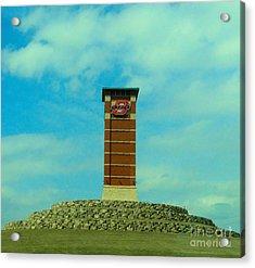 Oklahoma State University Gateway To Osu Tulsa Campus Acrylic Print by Janette Boyd