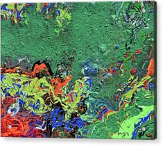 Our Green Planet Acrylic Print by Donna Blackhall