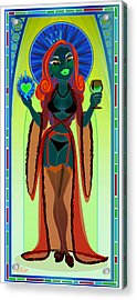 Our Lady Of Perpetual Bliss Acrylic Print by Cristina McAllister