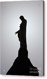 Our Lady Of The Mountain Silhouette Acrylic Print by Susan Isakson