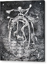Ouroboros Perpetual Motion Machine Acrylic Print by Otto Rapp