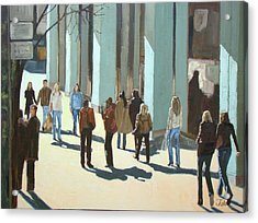 Out For A Walk With Shadows Number Two Acrylic Print by Tate Hamilton