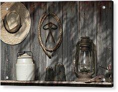 Out In The Barn IIi Acrylic Print by Tom Mc Nemar