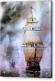 Out Of The Mist Acrylic Print by Steven Ponsford