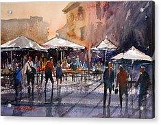 Outdoor Market - Rome Acrylic Print by Ryan Radke