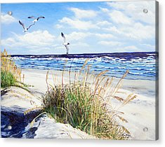 Outer Banks Acrylic Print by Pamela Nations