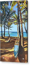 Outrigger Canoe At Mama's Fish House Acrylic Print by Stacy Vosberg
