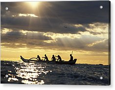 Outrigger Canoe Acrylic Print by Vince Cavataio - Printscapes