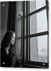 Outside Of The Window, Inside Of The Mind Acrylic Print by Hirokazu Tomimasu