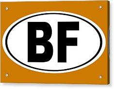 Oval Bf Beaver Falls Pennsylvania Home Pride Acrylic Print by Keith Webber Jr