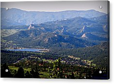 Over Estes Acrylic Print by Aaron Burrows