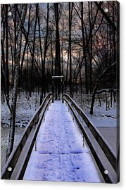 Over The Frozen River Acrylic Print by Scott Hovind