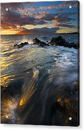Overflow Acrylic Print by Mike  Dawson