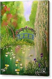 Overgrown Pond Acrylic Print by Viktoriya Sirris
