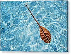 Overhead View Of Paddle Acrylic Print by Joss - Printscapes