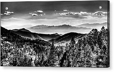 Overlooking The Southwest Acrylic Print by Christopher Wieck