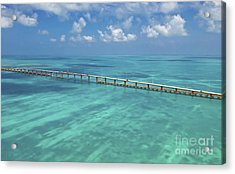 Overseas Highway Acrylic Print by Patrick M Lynch