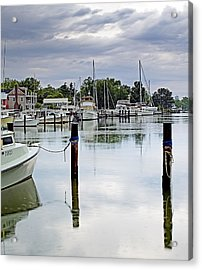 Oxford City Dock Eastern Shore Of Maryland Acrylic Print by Brendan Reals