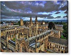 Oxford University - All Souls College Acrylic Print by Yhun Suarez