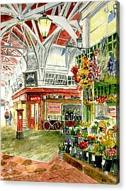 Oxford's Covered Market Acrylic Print by Mike Lester