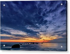 Oyster Pond Reef At Orient Point Acrylic Print by Rick Berk