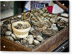 Oysters At The Market Acrylic Print by Heather Applegate