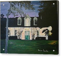Ozark House At Dusk Acrylic Print by Sharon  De Vore