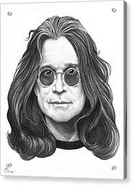 Ozzy Osbourne Acrylic Print by Murphy Elliott