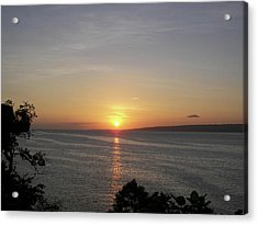 Pacific Island Sunset Acrylic Print by Kate Farrant