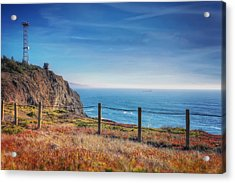 Pacific Ocean View Towards Point Bonita Lighthouse - Marin Headlands  Acrylic Print by Jennifer Rondinelli Reilly