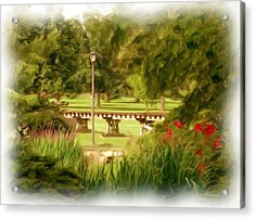 Paint In The Park Acrylic Print by Jim  Darnall