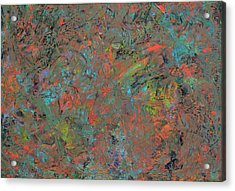 Paint Number 17 Acrylic Print by James W Johnson