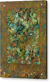 Paint Number 24 Acrylic Print by James W Johnson