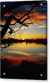 Paint The Sky Acrylic Print by Saija  Lehtonen