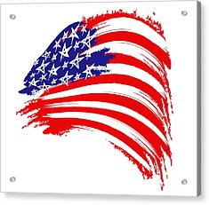Painted American Flag Acrylic Print by Stefano Senise